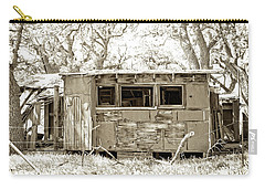 Carry-all Pouch featuring the photograph Miner's Camp by Timothy Bulone