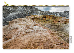 Carry-all Pouch featuring the photograph Minerva Hot Springs Yellowstone by John M Bailey