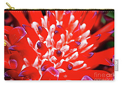 Carry-all Pouch featuring the photograph Flaming Torch Bromeliad By Kaye Menner by Kaye Menner