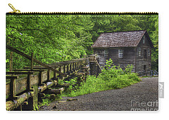 Carry-all Pouch featuring the photograph Mingus Mill 2 Mingus Creek Great Smoky Mountains Art by Reid Callaway