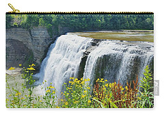 Carry-all Pouch featuring the photograph Mini Falls by Raymond Earley