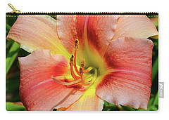 Carry-all Pouch featuring the digital art Mini Skirt Daylily by Eva Kaufman