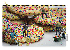 Miniature Construction Workers On Sprinkle Cookies Carry-all Pouch