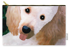 Miniature Poodle Albie Carry-all Pouch by Marian Cates