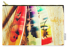 Miniature Surfboard Decorations Carry-all Pouch
