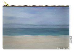 Carry-all Pouch featuring the photograph Minimal Beach by Andrea Anderegg
