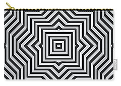Minimal Geometrical Optical Illusion Style Pattern In Black White T-shirt  Carry-all Pouch