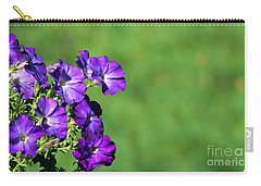 Carry-all Pouch featuring the photograph Minimal Petunias by Barbara S Nickerson