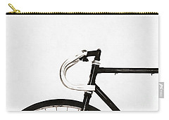 Minimalist Bicycle Painting Carry-all Pouch by Edward Fielding