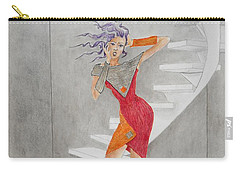 Minimalist Madness -- Whimsical Fashion Drawing Carry-all Pouch