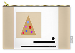 Carry-all Pouch featuring the digital art Minimalistic Christmas by Jessica Eli