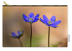 Carry-all Pouch featuring the photograph Minimalistic Impresion With Liverworts by Jaroslaw Blaminsky