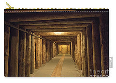 Carry-all Pouch featuring the photograph Mining Tunnel by Juli Scalzi
