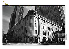 Carry-all Pouch featuring the photograph Minneapolis Downtown Bw by Frank Romeo