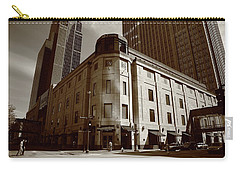 Carry-all Pouch featuring the photograph Minneapolis Downtown Sepia by Frank Romeo