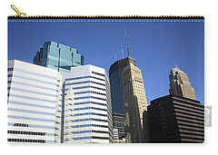Carry-all Pouch featuring the photograph Minneapolis Skyscrapers 11 by Frank Romeo
