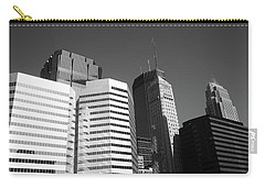 Carry-all Pouch featuring the photograph Minneapolis Skyscrapers Bw 5 by Frank Romeo