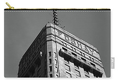 Carry-all Pouch featuring the photograph Minneapolis Tower 6 Bw by Frank Romeo