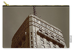 Carry-all Pouch featuring the photograph Minneapolis Tower 6 Sepia by Frank Romeo