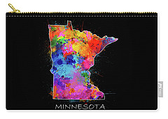 Minnesota Map Color Splatter 2 Carry-all Pouch