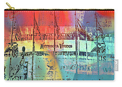 Carry-all Pouch featuring the photograph Minnesota Vikings Art by Susan Stone