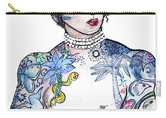 Minnie - An Homage To Maud Wagner, Tattoos  Carry-all Pouch