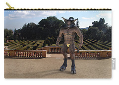 Minotaur In The Labyrinth Park Barcelona. Carry-all Pouch by Joaquin Abella