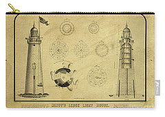 Carry-all Pouch featuring the drawing Minot's Ledge Light House. Massachusetts Bay by Vintage