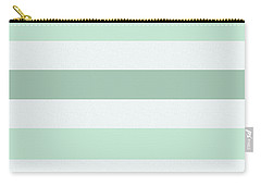 Mint White Stripes Carry-all Pouch