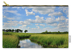 Mirror Image Of Clouds In Glacial Park Wetland Carry-all Pouch