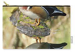 Mirrored Wood Duck Carry-all Pouch