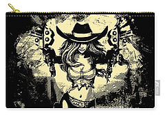 Miss Fortune - Vintage Comic Line Art Style Carry-all Pouch