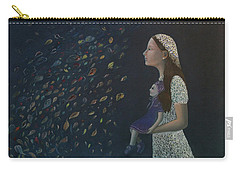 Carry-all Pouch featuring the painting Miss Frost Watching The Autumn Dance by Tone Aanderaa