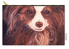 Carry-all Pouch featuring the painting Miss Pippin by Alan Lakin