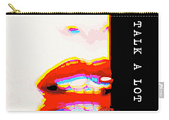 Miss Talk A Lot Carry-all Pouch by ISAW Gallery
