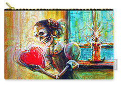 Carry-all Pouch featuring the painting Missing You by Heather Calderon