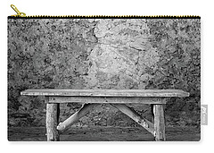 Carry-all Pouch featuring the photograph Mission Bench by Tom Singleton
