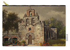 Carry-all Pouch featuring the painting Mission Espada by Kyle Wood