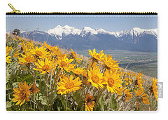 Mission Mountain Balsam Blooms Carry-all Pouch by Jack Bell