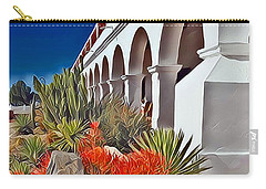 Mission San Luis Rey Garden Carry-all Pouch by Karyn Robinson