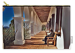 Mission San Luis Rey Carry-all Pouch by Karyn Robinson