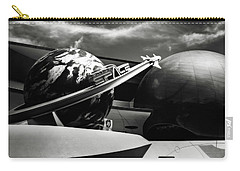 Carry-all Pouch featuring the photograph Mission Space Black And White by Eduard Moldoveanu