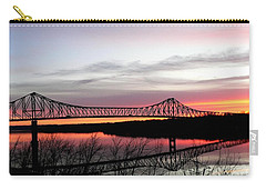 Mississippi River At Savanna Carry-all Pouch