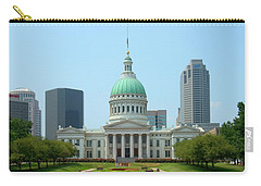 Carry-all Pouch featuring the photograph Missouri State Capitol Building by Mike McGlothlen