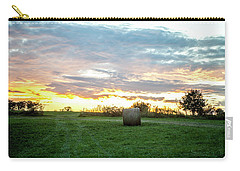 Carry-all Pouch featuring the photograph Missouri Sunset by Wade Courtney