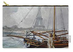 Mist On The Seine, Paris Carry-all Pouch