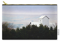 Carry-all Pouch featuring the photograph Misty Autumn Kansas Countryside by Anna Louise