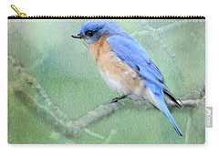 Carry-all Pouch featuring the photograph Misty Blue by Betty LaRue
