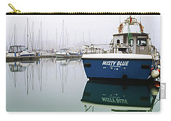 Carry-all Pouch featuring the photograph Misty Blue, Sovereign Harbour, Eastbourne by Will Gudgeon
