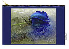 Carry-all Pouch featuring the digital art Misty Blue by Terry Foster